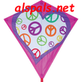 "Peace Heart : 30"" Diamonds (15342) Kite"