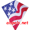 "Patriotic : 30"" Diamonds (15421) Kite"