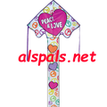 Love & Peace : Large Easy Flyer (44166) Kite