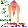 "33034  Pink Gradient: Delta Flo-Tail 45"" Kites by Premier (33034)"