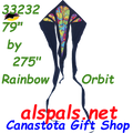 33232  Rainbow Orbit: Delta Flo-Tail 6.5' Kites by Premier (33232)