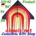 "33142   Fire Ball: Delta Streamer 56"" Kites by Premier (33142)"