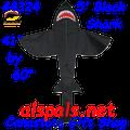 44324  Shark ( Black )5 ft.: Sea Life Kite by Premier (44324)