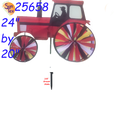 """Modern Tractor Red 24"""" : Tractor Spinners (25658)"""