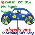 """26832  22"""" Blue VW Hippie Mobile: Vehicle Spinners (26832)"""