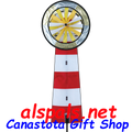 Red & White Lighthouse Spinner (22363)