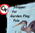 23948  Garden Flag Rubber Stoppers 1@ (23948.1)