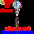 "25869  CHEVRON/POLKA DOT 16"" Hot Air Balloons (25869)"