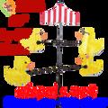 21616  RUBBER DUCKS : CAROUSEL SPINNERS (21616)