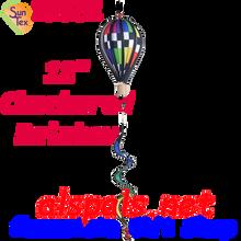 25801 Checkered Rainbow : 12 in Hot Air Balloon (25801)