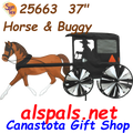 """25663  Horse & Buggy 36"""": Vehicle Spinners (25663)"""