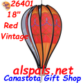 "26401 Red Vintage 18"" Hot Air Balloons (26401)"