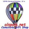 "25745 Checkered Rainbow 22"" Hot Air Balloons (25745)"