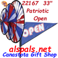 22167 Open Patriotic Triple Spinners (22167)