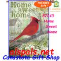 57143 Home Sweet Home (Cardinal) : PremierSoft House Flag (57143)
