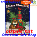 57123 Doggone Happy Holiday : PremierSoft House Flag (57123)