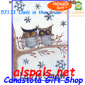 57171 Owls in the Snow : PremierSoft House Flag (57171)