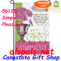 56128 Simple Pleasures (Bicycles) : PremierSoft Garden Flag (56128)