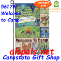 56178 Welcome to Camp : PremierSoft Garden Flag (56178)