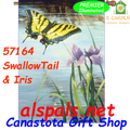 57164 SwallowTail & Iris : Illuminated House Flag (57164)