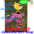 56151 GoldFinch on ConeFlower : Illuminated House Flag (57151)