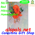 56161  Red Hibiscus & HummingBird : Garden Flag by Premier Illuminated (56161)