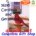 56195  Cardinal & Geranium : PremierSoft Garden Flag (56195)