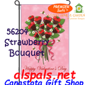 56204  Strawberry Bouquet : PremierSoft Garden Flag (56204)