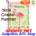 56216  ( Welcome ) Coastal Flamingo : PremierSoft Garden Flag (56216)