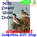 56192  Steamy Wood Ducks : Garden Flag by Premier Illuminated (56192)