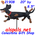 "Dog (Dachshund {Black % Tan} 20"") , Whirligig (21908)"
