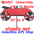 "26"" Red VW Convertible Beetle , Vehicle Spinners (26821)"