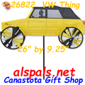 "26"" Yellow VW Thing, Vehicle Spinners (26822)"