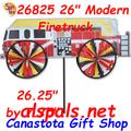 "Firetruck Modern 26"" : Vehicle Wind Spinner (26825)"