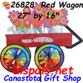 """Red Wagon 27"""" , Vehicle Spinners (26828)"""