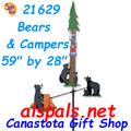 """Bears & Campers 59"""", Carousel Wind Spinners (21629)"""