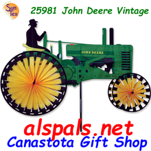 25981  John Deere Vintage Tractor 43 inch : Tractor Wind spinner (25981)    **** Very limited quantity available****