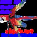 """25122  Scarlet MaCaw 39""""   Bird Spinner (25122)"""