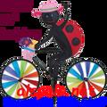 """26862  Ladybug   20"""" Bicycle Spinners (26862)"""