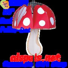 22374  Red Polka-Dot mushroom spinner (22374)