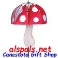 Red Polka-Dot mushroom spinner (22374)