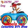 26751  Dog : Car Spinners (26751)