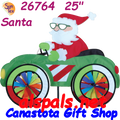 26764  Santa: Car Spinner (26764)