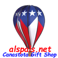 "Patriotic 26"" Hot Air Balloons (25918) Wind Spinner.  When you want to strut your Patriotic Pride the awesome 26"" Patriotic Hot Air Balloon is the perfect purchase. Just purchase two, it will more than double projection."