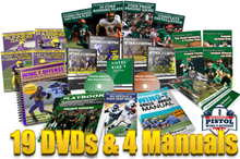 This package has everything that Stewart has made on the Pistol Wing T. A total of 20 DVDs and 4 Books at a price of $20 apiece.  And as a bonus includes FREE SHIPPING, the new interactive Pistol Wing T book for the ipad, and 1-year subscription to Pistol Wing T HUDL account.  A savings of over $200 !!!