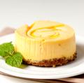 "Chuckanut Bay Foods 3"" - 4oz Mango Swirl Cheesecake"
