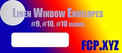 linen window envelopes small
