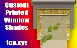 custom printed window shades