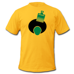 Custom printed t-shirts, one side with two colors and a double print (for light imprints on dark shirts or for extra thick prints) on our JerZees or Gildan Heavyweight 50-50  S-XL, qty250