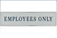 Engraved Signs, Designer Wall Sign with Holder, 1 11/16 x 7 11/16, Qty-4